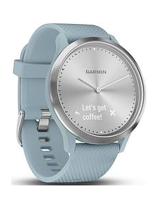 garmin-vivomove-hr-hybrid-smart-watch-silver-with-seafoam-band
