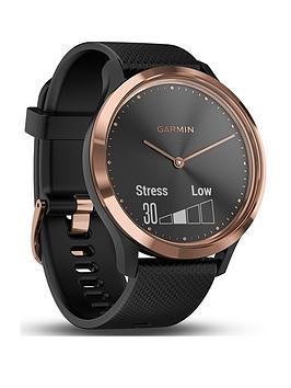 garmin-vivomove-hr-hybrid-smart-watch-rose-gold-with-black-band