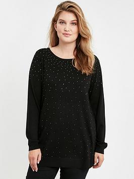 evans-black-sparkle-front-jumper
