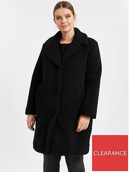 evans-teddy-borg-coat-black
