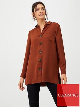 wallis-button-front-longline-shirt-rust
