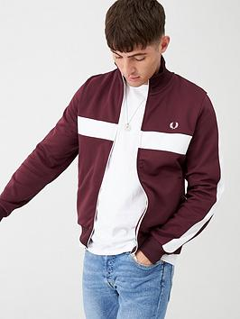 fred-perry-contrast-panel-track-jacket-burgundy