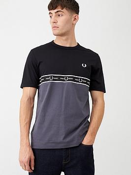 fred-perry-taped-chest-t-shirt-blackcharcoal