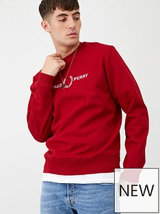 fred-perry-graphic-sweatshirt-red