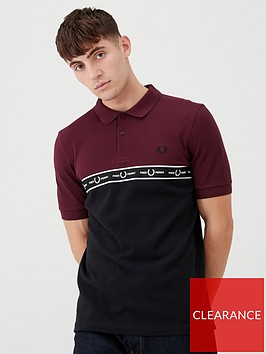 fred-perry-taped-chest-polo-shirt-claretblack