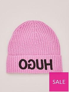 hugo-beanie-hat-pink