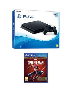 playstation-4-ps4-black-500gb-console-with-marvels-spider-man-game-of-the-year-edition-and-optional-extras
