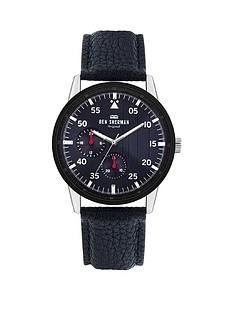 ben-sherman-ben-sherman-navy-leather-strap-with-navy-sunray-dial