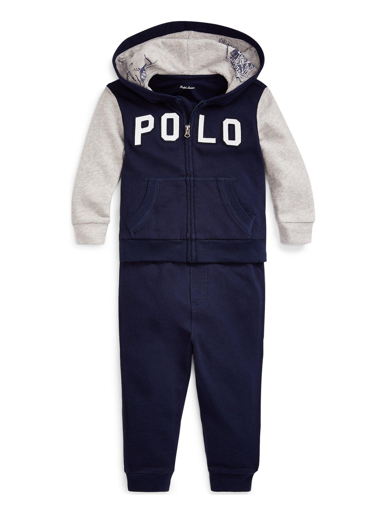 Contrast Side Stripe Arm Patch Babies Tracksuit  Baby Boys Girls Size