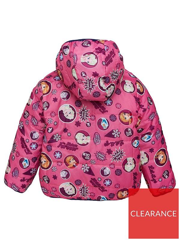 Blue 6x 5 6 Disney Frozen Girl Winter Puffer Coat with Fur Hoods Size z 4