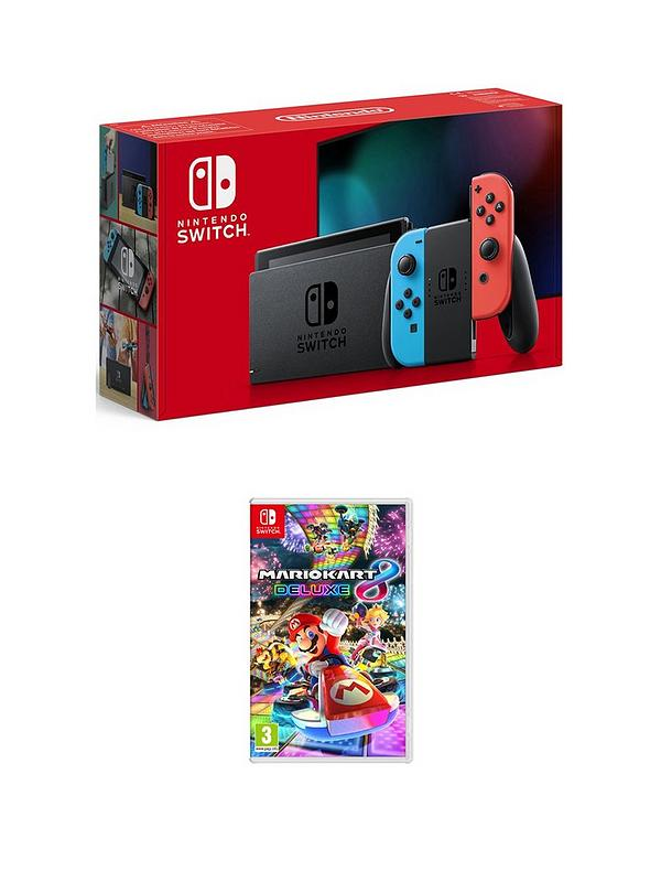 Nintendo Switch Console Improved Battery With Mario Kart 8 Deluxe