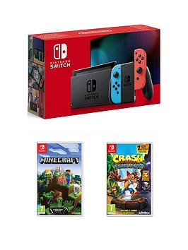 nintendo-switch-nintendo-switch-console-improved-battery-with-crash-bandicoot-nsane-trilogy-and-minecraft