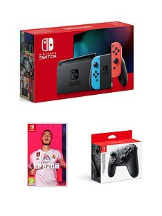 nintendo-switch-nintendo-switch-neon-console-improved-battery-with-fifa-20-legacy-edition-and-official-pro-controller
