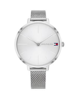 tommy-hilfiger-tommy-hilfiger-project-z-silver-sunray-dial-stainless-steel-mesh-strap-ladies-watch