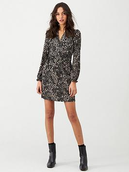 oasis-mollie-pussy-bow-dress-multiblack
