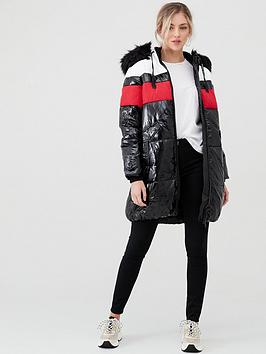 river-island-river-island-colour-block-longline-padded-jacket-black
