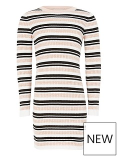 river-island-girls-stripe-knitted-jumper-dress-multi