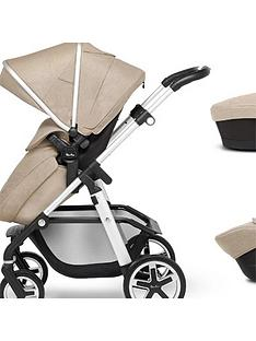 silver-cross-pioneer-5-piece-travel-system-bundle-pushchair-carry-cot-car-seat-isofix-base-and-adaptor