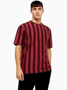 topman-topman-stripe-t-shirt-with-slogan-collar-burgundy