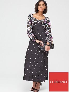 v-by-very-mix-print-satin-jacquard-midi-dress-multi