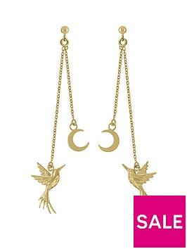 sara-miller-sara-miller-18ct-gold-plated-crescent-moon-and-hummingbird-drop-earrings