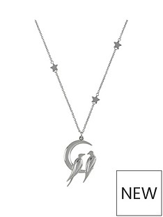 sara-miller-sara-miller-silver-plated-crescent-moon-love-birds-necklace