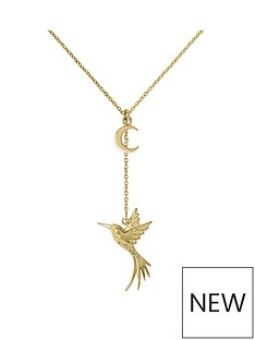 sara-miller-sara-miller-18ct-gold-plated-crescent-moon-and-hummingbird-drop-necklace