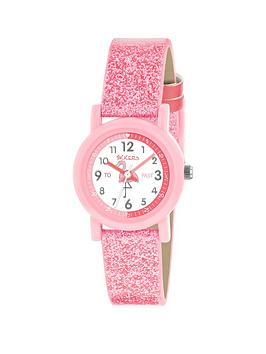 tikkers-tikkers-white-and-pink-detail-flamingo-dial-pink-glitter-strap-kids-watch