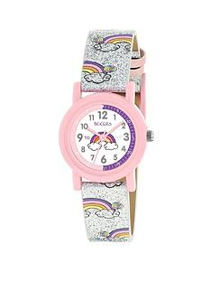 tikkers-tikkers-white-rainbow-dial-silver-glitter-rainbow-strap-kid-watch