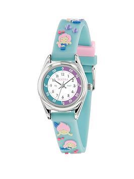tikkers-tikkers-white-dial-blue-mermaid-print-strap-kids-watch
