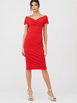 v-by-very-ruched-front-pencil-dress