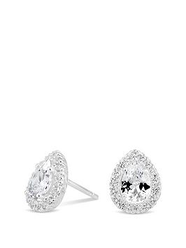 simply-silver-simply-silvercubic-zirconia-pear-halo-studs