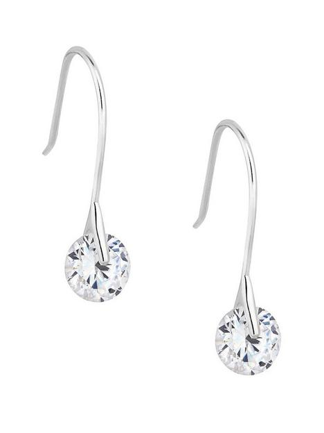 simply-silver-cubic-zirconia-round-brilliant-drop-earrings