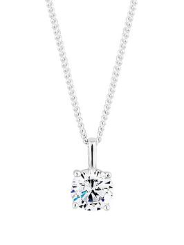 simply-silver-simply-silver-6mm-cubic-zirconia-round-brilliant-pendant