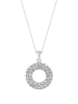 simply-silver-simply-silver-cubic-zirconia-double-round-pendant