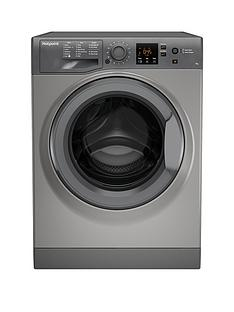 Hotpoint NSWM743UGG 7kg Load, 1400 Spin Washing Machine - Graphite
