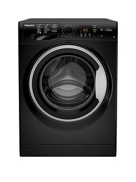 Hotpoint Nswm743Ubs 7Kg Load, 1400 Spin Washing Machine - Black