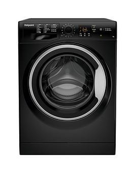 Hotpoint Nswm742Ubs 7Kg Load, 1400 Spin Washing Machine - Black