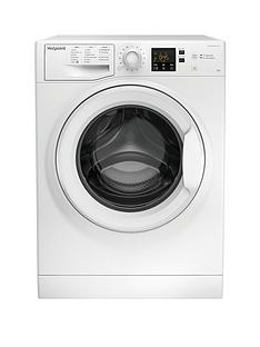 Hotpoint NSWM843CW 8kg Load, 1400 Spin Washing Machine - White