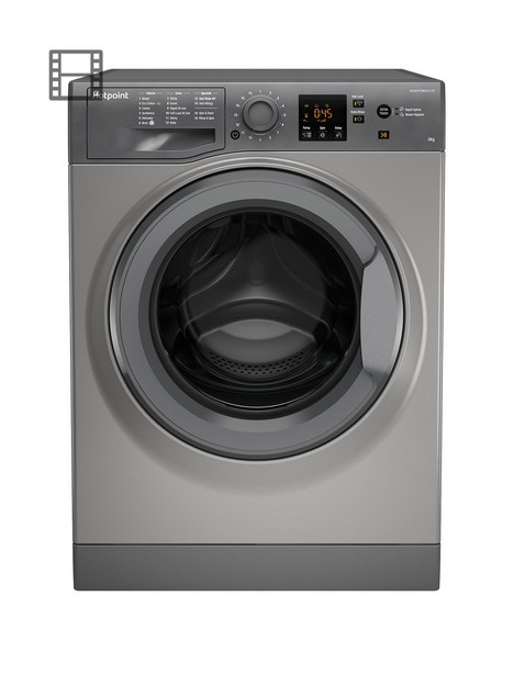 hotpoint-nswm843cggukn-8kg-load-1400-spin-washing-machine-graphite