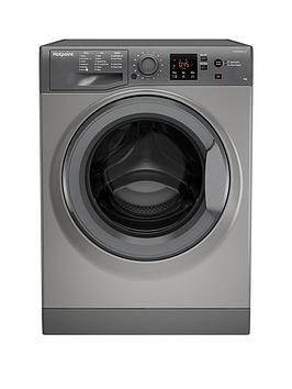 Hotpoint Nswm943Cgg 9Kg Load, 1400 Spin Washing Machine - Graphite