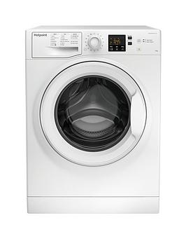 Hotpoint Nswm1043Cw 10Kg Load, 1400 Spin Washing Machine - White