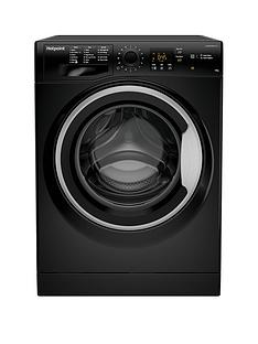 Hotpoint NSWM1043CBS 10kg Load, 1400 Spin Washing Machine - Black