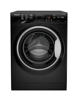 Hotpoint Nswm1043Cbs 10Kg Load, 1400 Spin Washing Machine - Black