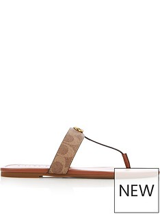 coach-jessie-signature-coated-canvas-thong-sandals-tan
