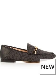 coach-helena-signature-c-chain-loafers-black