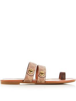 coach-julianna-signature-c-turnlock-sandals-tan