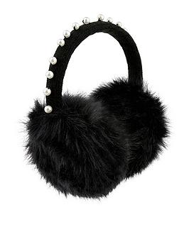 accessorize-pearl-earmuffs-black
