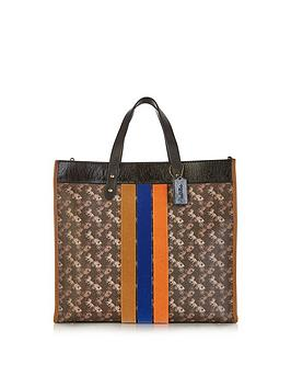 coach-varsity-stripe-carriagenbspprint-40-field-tote-bag-brown