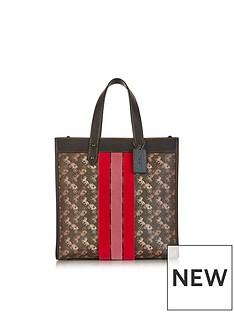 coach-varsity-stripe-carriage-print-field-tote-bag-brown